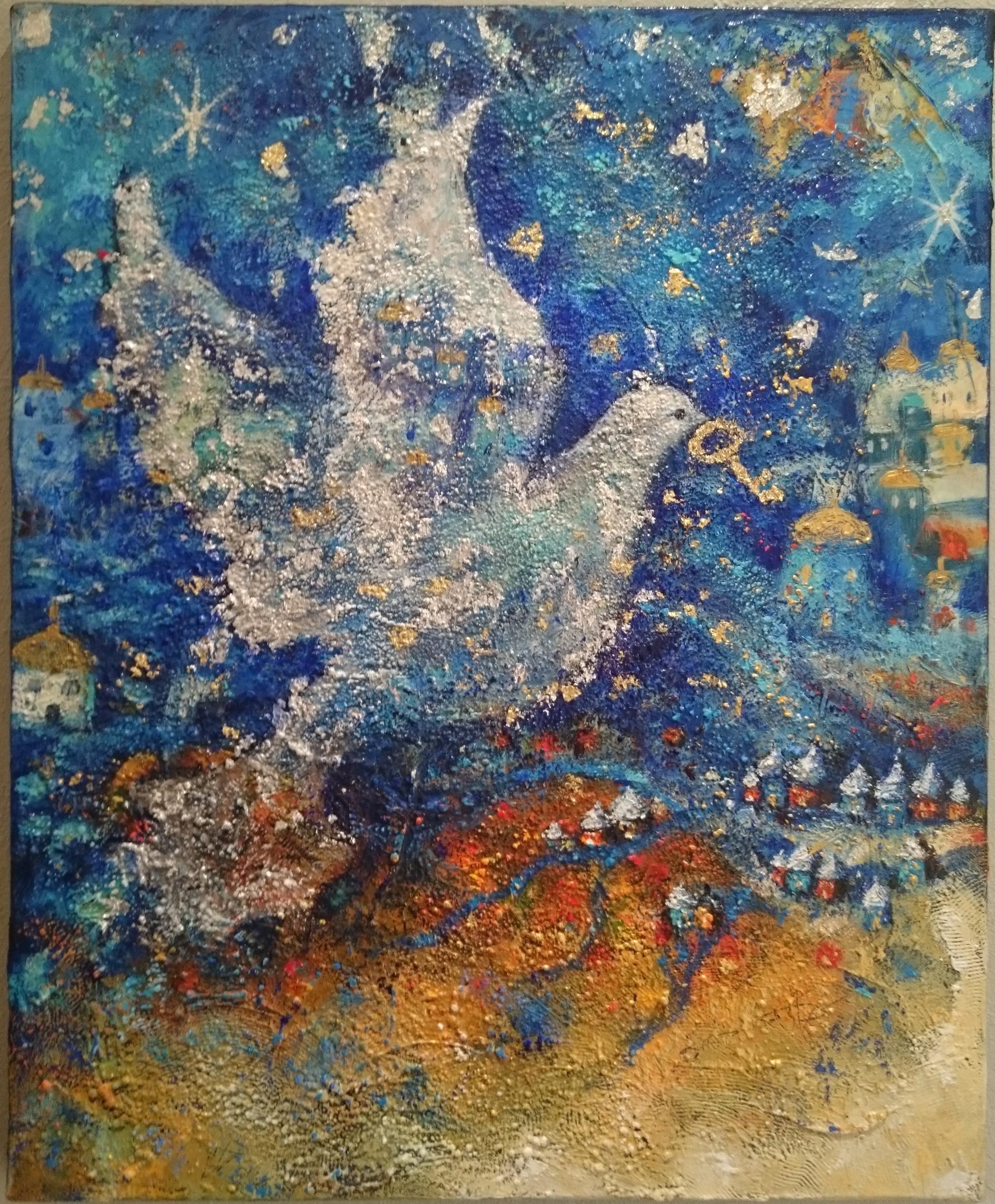 peinture colombe