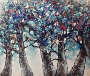 tableau couple marié arbres