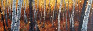 triptyque douceur d'automne 3 fois 65×54 cm