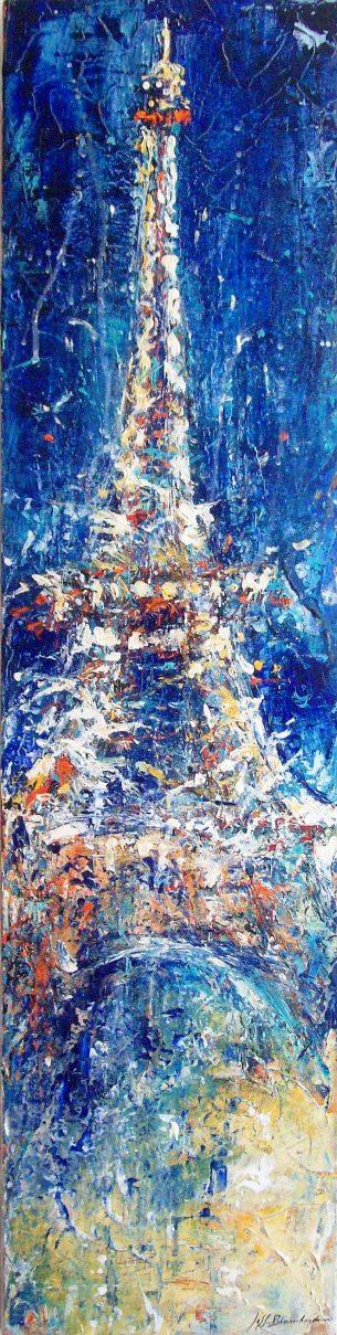 peinture-hommage- victime -attentat- tour-Eiffel