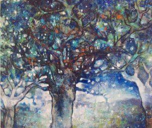 peinture-arbres-étoiles-poetique