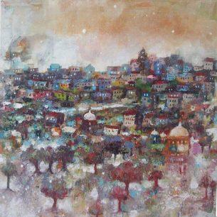 peinture- village- bucolique -poetique