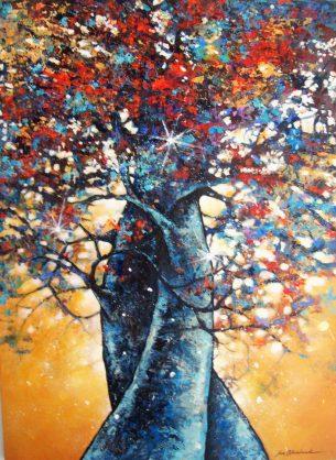arbres-amoureux - peinture
