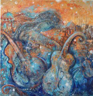 peinture musicienne
