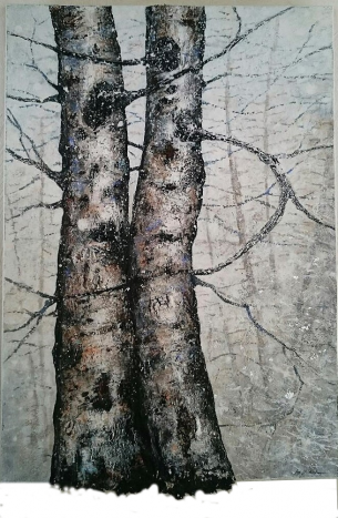 Flocons 116 x 89 cm