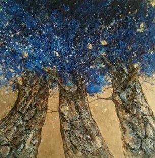 arbres celestes peinture