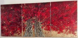 arbres-rouge-or- peinture