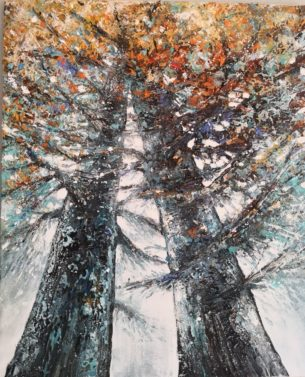 peinture arbres ( cèdres )