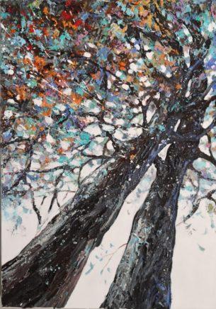 A côté du chêne des Beaux-Monts – 33×46 cm
