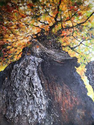 Le chêne Saint-Jean à Compiègne 160x120cm